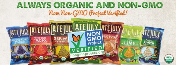 late july non gmo snacks
