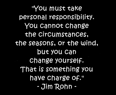 Quote needed for Essay? About being responsible for your own actions?